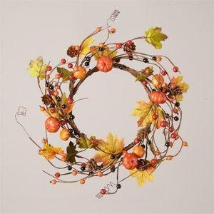 Pumpkins, Pinecones & Autumn Berries Twig Small Wr
